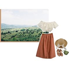 A fashion look from March 2016 featuring ASOS skirts, Topshop sandals and Helen Kaminski hats. Browse and shop related looks.