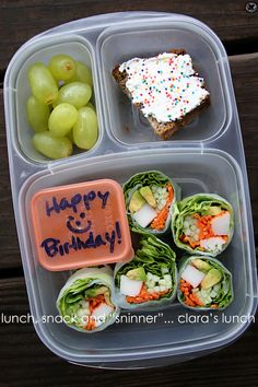 Red green coffee barang untuk dibeli pinterest red green lunch snack and sninner happy birthday clara store bought lettuce wraps grapes and pumpkin bread easylunchboxes forumfinder Choice Image