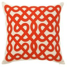 Labyrinth Pillow in Persimmon