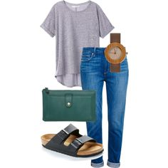 fam meeting by inggar on Polyvore featuring polyvore fashion style Victoria's Secret Paige Denim Birkenstock even&odd