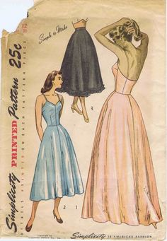 1940s Simplicity 2423 Womens Day or Evening Slip by patternshop,