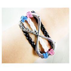One Direction Bracelet Infinity Wish Bracelet by 2style on Etsy ($5.99) via Polyvore