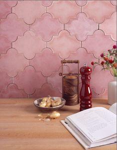 Yes! Pink tile backsplash by decorology, via Flickr