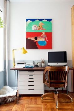 Here are five practical new rules for anyone who is working from home. Tuscan Design, Tuscan Style, Hanging Closet Organizer, Low Cabinet, Wall Mounted Shelves, Small Drawers, Wall Outlets, Design Furniture, Desk Organization