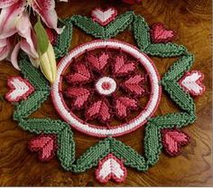 Hearts 'n' Flowers Doily