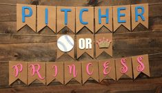 Fall Gender Reveal, Baseball Gender Reveal, Simple Gender Reveal, Gender Reveal Banner, Gender Reveal Announcement, Gender Reveal Party Decorations, Baby Gender Reveal Party, Baby Banners, Shower Banners