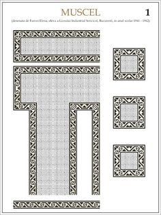 Semne Cusute: ie din MUSCEL Embroidery Motifs, Learn Embroidery, Machine Embroidery, Antique Quilts, Embroidery Techniques, Craft Patterns, Beading Patterns, Cross Stitch Patterns, Projects To Try