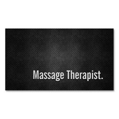 Massage Therapist Cool Black Metal Simplicity Double-Sided Standard Business Cards (Pack Of 100). Make your own business card with this great design. All you need is to add your info to this template. Click the image to try it out!