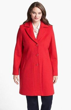 5a2918e804610 Kristen Blake Single Breasted Walking Coat (Plus Size) available at   Nordstrom  Women