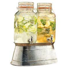 Who doesn't love the versatility of mason glasses? Madison Double Beverage Dispenser
