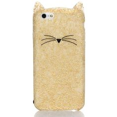 Kate Spade Glitter Cat Iphone 6 Case (£36) ❤ liked on Polyvore featuring home, home decor, kate spade, cat home decor, whimsical home decor and kate spade home decor