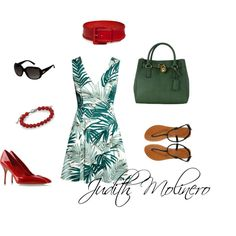 Tropic by judith-molinero-fashion on Polyvore featuring H&M, London Rebel, Casadei, Michael Kors, David Yurman, Ralph Lauren Collection and Gucci