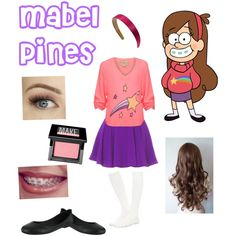 Mabel Pines from Gravity Falls by zamantha-palazuelos on Polyvore featuring polyvore, fashion, style, Wildfox, Akira, Sloosh, MIA and Make