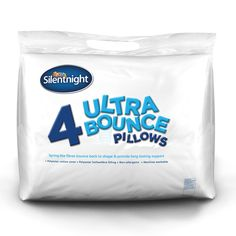 These Ultrabounce pillows are overfilled with spring like hollowfibre filling that just keeps bouncing back to its natural plump state and never goes flat. Now with 33% more filling to add even more bounce! | eBay!