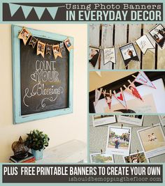 Decorating with Photo Banners - display family pictures around the home | KristenDuke.com