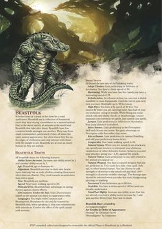 "dnd-5e-homebrew: ""Beastfolk race by coolgamertagbro """