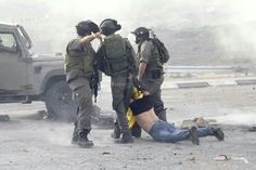Arresting a protester to the Illegal Occupation on Palestinian land no less.