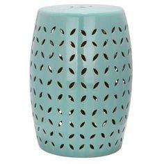 Check out this item at One Kings Lane! Malia Ceramic Garden Stool, Aqua