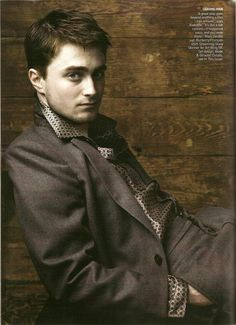 Daniel Radcliffe by Annie Lebovitz.  How can you not like this guy? he is so polite and awkward in a cute way!