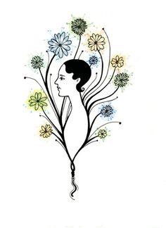 Flora от ptitsatsatsa на Etsy