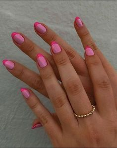 Manicure Nail Designs, French Manicure Nails, French Nails, Pink Manicure, Manicure Colors, Nail Polish Designs, Acrylic Nail Designs, Stiletto Nails, Spring Nail Trends