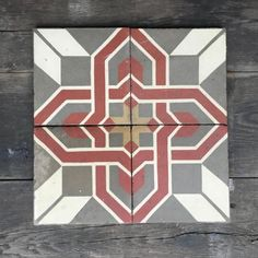 A bright and bold traditional design is featured on this reclaimed tile. The classic pattern adds a touch of character and history to any space in which is it l Hallway Inspiration, Traditional Design, Contemporary, History, Rugs, Classic, Entrance, Pattern, Tile