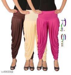 Ethnic Bottomwear - Patiala Pants  Cotton Viscose Attractive Women's Patiala Pants Combo Fabric: Cotton Viscose Size: XL - 34 in  XXL - 36 in  Length: Up To 40 in Type: Stitched Description: It Has 3 Pieces Of Women's Patiala Pants Pattern: Solid Country of Origin: India Sizes Available: XL, XXL, XXXL, 4XL, 5XL   Catalog Rating: ★4 (288)  Catalog Name: Stylish Cotton Viscose Attractive Women's Patiala Pants Combo Vol 12 With CatalogID_727579 C74-SC1018 Code: 284-4965082-3321