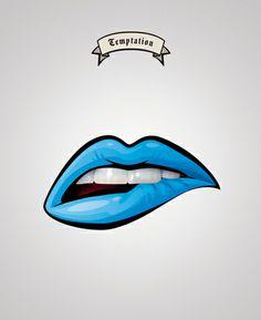 Ian & Lozz photoillustration - lips
