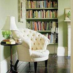 I love this bookshelf, but I also am kinda diggin' this chair.
