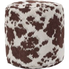 American Brown Cow Udder Madness Pouf Ottoman ($121) ❤ liked on Polyvore featuring home, furniture, ottomans, brown, patterned ottoman, cow ottoman, american furniture, colored furniture and brown footstool