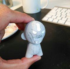 Custom Micro Yeti Kidrobot Munny by WuzOne