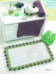 Facilite Sua Arte: Jogo de banheiro 10 - Tapete da pia