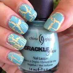 Crushed Candy Crackle over Lemon Fizz  Join http://bellashoot.com for more nail looks or click image!