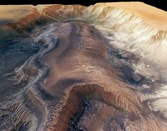 Hebes Chasma, a trough in the Grand Canyon of Mars - European Space Agency Sistema Solar, Cosmos, Space And Astronomy, Space Planets, Our Solar System, Science And Nature, Life Science, Science Space, To Infinity And Beyond