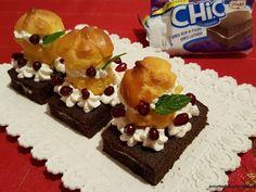 Le    ricette    di    Claudia  &   Andre : Snacks Chic festoso, Freddi con bigne e melograno