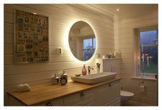 badrumsspegel,belysning,rund spegel,svedbergs,kommod