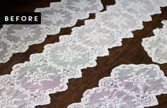 DIY Lace Curtains From Table Runners