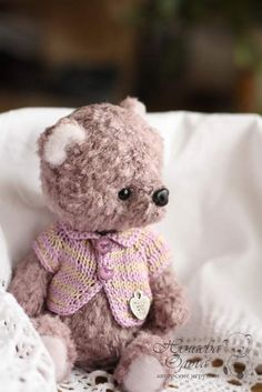 Cora by By Olga Nechaeva | Bear Pile - click on link to see lots more lovely makes.