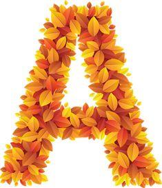 Monogram Letters, Autumn Leaves, Calendar, Clip Art, Lettering, Fall, Illustration, Flowers, Handmade