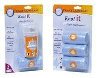 Prince Lionheart Knot-it Dispenser & 3 Pack Refill by Prince Lionheart  Great to have in the diaper bag for those moments when there isn't a diaper-friendly garbage nearby. You control how big the bag is, and they eliminate the odor - great for putting dirty clothes into while on the go too!
