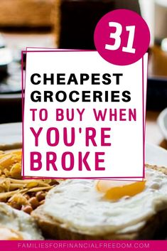 I love these cheap food ideas to slash your groceries budget! Cheap food ideas for inexpensive meals! Frugal food ideas for dinners! Cheap food ideas for kids or for two. Great cheap food ideas for families! Money Saving Meals, Save Money On Groceries, Groceries Budget, Cheap Grocery List, Grocery Savings Tips, Frugal Meals, Budget Meals, Easy Meals, Food Budget