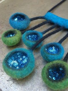 58 Trendy Jewerly Design Ideas Jewelery Beaded Necklaces Fiber Art Jewelry, Textile Jewelry, Fabric Jewelry, Felted Jewelry, Jewellery, Nuno Felting, Needle Felting, Felt Necklace, Beaded Necklaces