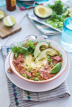 Slow Cooker Chicken Tortilla Soup www.pineappleandcoconut.com