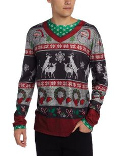 Faux Real Men's Ugly Frisky Deer Sweater, Multi, Small Faux Real,http://www.amazon.com/dp/B00E0IXDUW/ref=cm_sw_r_pi_dp_fZ5Jsb14ZT19YWKQ
