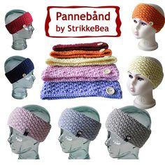 Ravelry: Pannebånd i perlestrikk pattern by StrikkeBea Crochet Amigurumi Free Patterns, Crochet Stitches Patterns, Knitting Patterns Free, Free Knitting, Baby Knitting, Crochet Hats, Crochet Backpack, Mode Crochet, Crochet Doll Dress