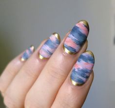 Gilded sunset.  More fun mixing matte and shine, inspired by Silver Linings Ceramics.