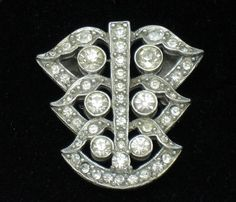 Art Deco Vintage Signed ea Rhodium Rhinestone Brooch Pin http://www.ebay.com/itm/ART-DECO-Vintage-Signed-EA-Rhodium-Rhinestone-Brooch-Pin-/181125903406?pt=Vintage_Costume_Jewelry=item2a2bf1f42e