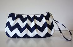 Hey, I found this really awesome Etsy listing at https://www.etsy.com/listing/110417470/zip-go-wristlet-navy-blue-chevron