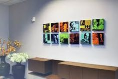 Wall art at the office should inspire.  See examples that fit the bill!