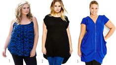 Cute-Plus-Size-Tops-to-Wear-with-Leggings ***Apple shapes can wear shorter tops that are billowy to emphasize slender legs and camouflage the middle, like number 1. Check out these 3 cute plus size tunics that look great with leggings!